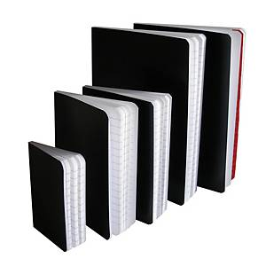 NOTEPAD SOFT COVER A6 RULED 72SHT BLACK