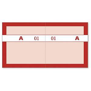 Kuponbog Mayland nr.4, 70 x 130 mm, rød, 200 blade