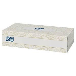 Mouchoirs en papier Tork Extra Soft, 2 épaisseurs, la boîte de 100 mouchoirs