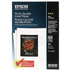 Epson C13S041061 A4 Photo Inkjet Paper - Pack of 100 Sheets