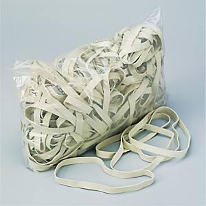 Elastikker, 120 x 10 mm, hvide, pakke a 1000 g
