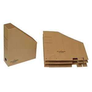 Tidsskriftholder Bantex, A4, karton, brun