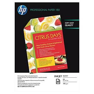 Papier photo jet d encre A4 HP Professionnel - brillant - 180 g - 50 feuilles