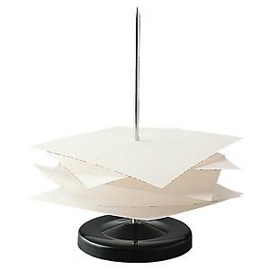 Papirspyd, sortlakeret, metal