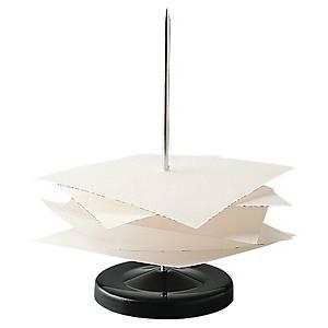 Zettelspießer, schwarzer Metallfuß mit Spießnadel
