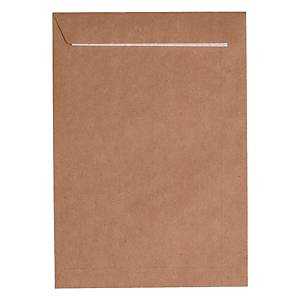 CART 500 ENVELOPES B5 GUMMED BROWN