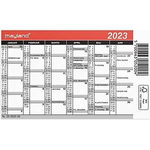 Kalender Mayland 0520 00, 2 x 6 måneder, 2021, 11,7 x 7 cm