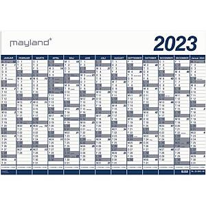 Vægkalender Mayland 0651 00, 1 X 13 mdr, 2021, 100 x 70 cm, pp