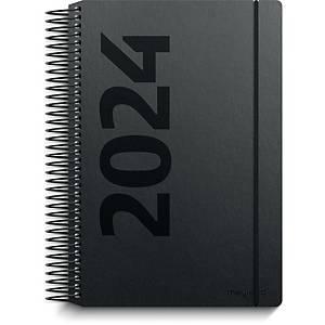 Kalender Mayland 2080 00, dag, 2020, 11,7 x 17,1 cm, fiberpap, sort