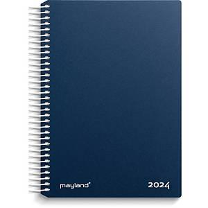 CALENDAR MAYLAND 2100 20 SPIRAL CALENDAR 1 DAY BLUE