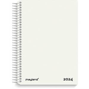 CALENDAR MAYLAND 2100 10 SPIRAL CALENDAR 1 DAY WHITE