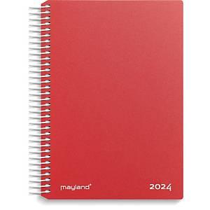 Kalender Mayland 2100 40, dag, 2020, 11,7 x 17,1 cm, PP, rød