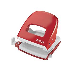 LEITZ 5008 PAPER PUNCH 22 SHEET RED
