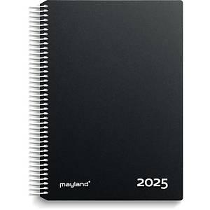 Kalender Mayland 2180 00, dag/time, 2021, 16,8 x 23,5 cm, pp, sort