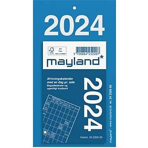 Afrivningskalender Mayland 2520 00, dag, 2020, 6,1 x 9,8 cm, blå