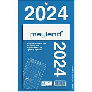 Afrivningskalender Mayland 2530 00, dag, 2021, 11,5 x 15,8 cm, blå