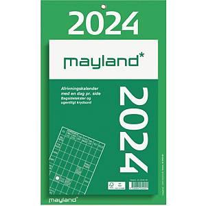 Afrivningskalender Mayland 2540 00, dag, 2020, 16,5 x 23,5 cm, grøn