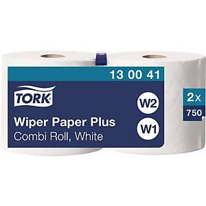 Wischtuchrolle Tork Advanced 130041, 2-lagig, weiss