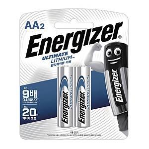 에너자이저 AA 리튬 건전지 1.5V 2개입