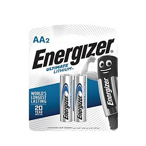 Energizer Lithium Battery L91 AA - Pack of 2
