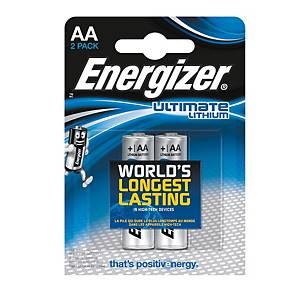 Batérie Energizer Ultimate Lithium, LR6/AA, 2 kusy v balení