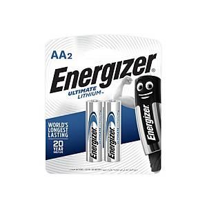 ENERGIZER ถ่านลิเธียม L91 AA 1.5 โวลต์ 2 ก้อน
