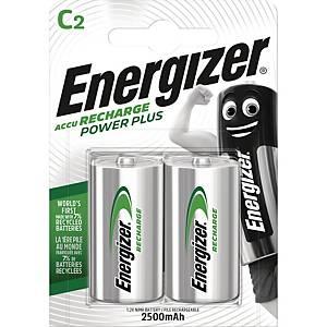 Genopladelige batterier Energizer NIMH C, pakke a 2 stk.
