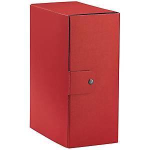 Cartella portaprogetto Esselte Eurobox cartone con bottone dorso 15 cm rosso