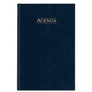 Aurora eeuwigdurende bureau-agenda met omslag in Balacron, assorti kleuren