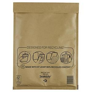Pack de 100 envelopes com bolhas - 240 x 330 mm - castanho