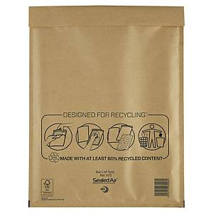Mail Lite Bubble Lined Gold Postal Bags H5 270X360mm Box of 50