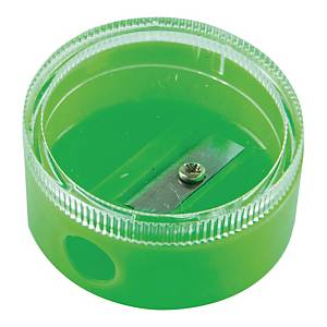 Temperówka fluorescencyjna z pojemnikiem, miks kolorów