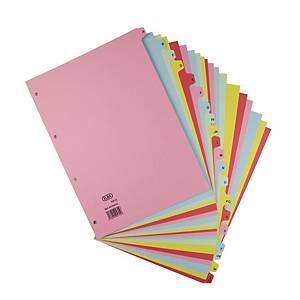 Elba A4 Coloured Card Dividers A-Z