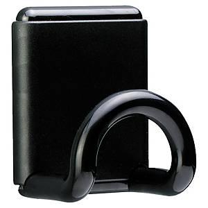 Patère magnétique Unilux - noire