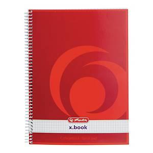 Kołonotatnik HERLITZ x.book, okładka półtwarda, kratka, A5+, 70 kartek*