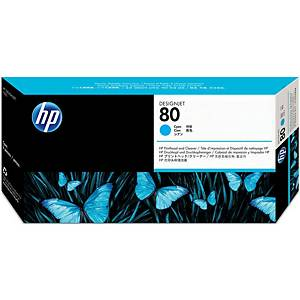 HP 80 Cyan Printhead and Printhead Cleaner (C4821A)