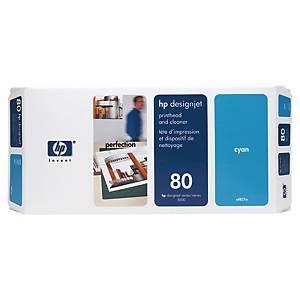 Tête d impression et nettoyage HP 80 - C4821A - cyan