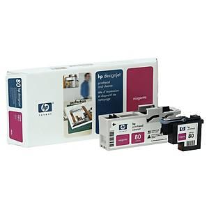 Tête d impression et nettoyage HP 80 - C4822A - magenta