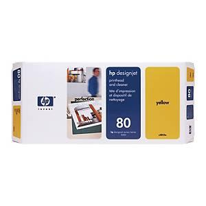 Druckkopf + Reiniger HP C4823A - 80, Inhalt: 17ml, gelb