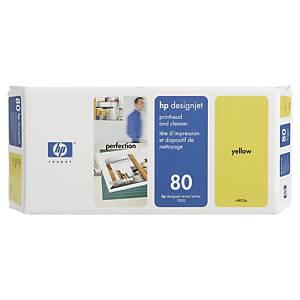 Tête d impression et nettoyage HP 80 - C4823A - jaune