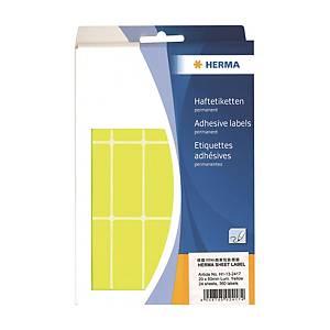 HERMA 顏色標籤長方形 2417 20 x 50毫米 螢光黃色 每盒360個標籤