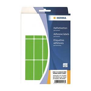 Herma 2418 Colour Label 20 x 50mm Luminous Green - Box of 360