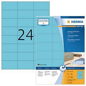 Herma 4408 gekleurde etiketten, blauw, 70 x 37 mm, doos van 2400