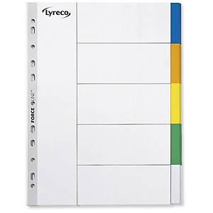 Przekładki polipropylenowe LYRECO A4 5 kolorów