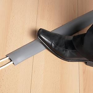 Calha de solo para cabos antiderrapante - 1,8 m - cinzento