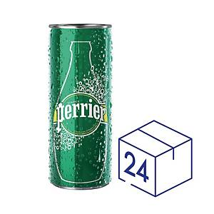 Perrier Sparkling Mineral Water Can 330ml - Pack of 24