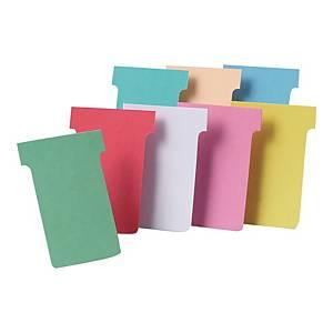 Karteczki do planerów NOBO T-CARD T2 czerwone, 100 sztuk