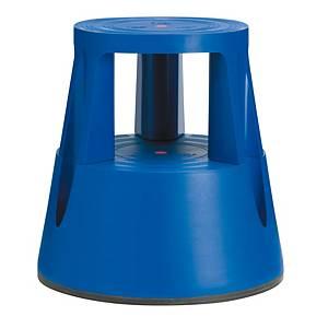 Sgabello Twinco Twin Lift con ruote e sistema autobloccaggio blu