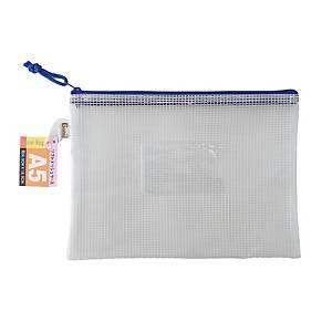 Data Base Mesh Zipper Bag A5