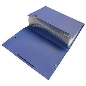 F4 風琴式文件袋 藍色